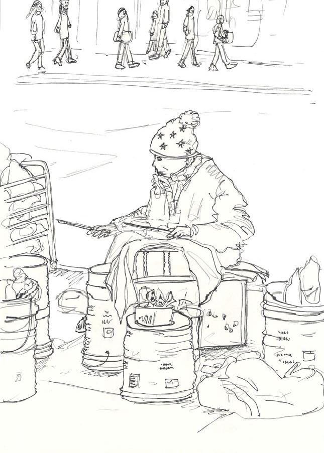 street person musician